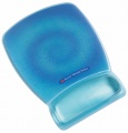 Podložka pod myš s opěrkou zápěstí Precise - modrá