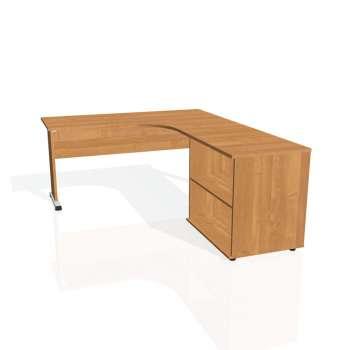 Psací stůl Hobis PROXY PE 60 H levý, olše/olše