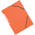 Desky s chlopněmi a gumičkou Q-Connect - A4, oranžové, 10 ks