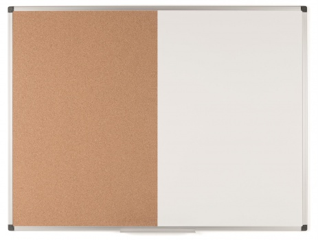 Kombinovaná tabule BI-OFFICE - 120 x 90 cm, hliníkový rám
