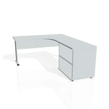 Psací stůl Hobis PROXY PE 60 H levý, šedá/šedá