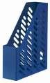 Stojan na časopisy KLASSIK - plastový, A4, modrý