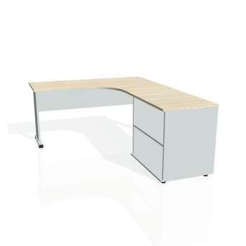 Psací stůl Hobis PROXY PE 60 H levý, akát/šedá