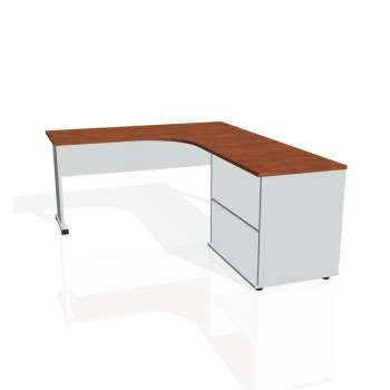 Psací stůl Hobis PROXY PE 60 H levý, calvados/šedá