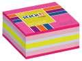 Samolepicí bloček v kostce Stickn by Hopax - 51 x 51 mm, 250 lístků, neonově růžový