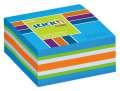Samolepicí bloček  v kostce Stickn by Hopax - 51 x 51 mm, 250 lístků, neonově modrý