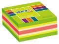 Samolepicí bloček v kostce Stickn by Hopax - 51 x 51 mm, 250 lístků, neonově zelený
