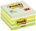 Kostka Post-it - 76x76 mm, odstíny zelené barvy, 450 lístků