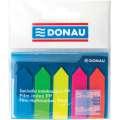 Samolepicí záložky Donau - fóliové, 12x45 mm, 5x 25, mix barev