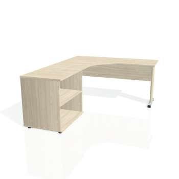 Psací stůl Hobis PROXY PE 60 H pravý, akát/akát
