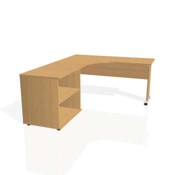 Psací stůl Hobis PROXY PE 60 H pravý, buk/buk