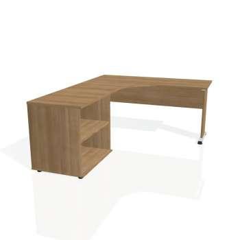 Psací stůl Hobis PROXY PE 60 H pravý, višeň/višeň