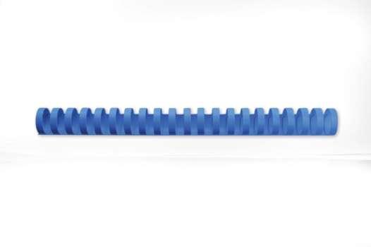 Hřbety plastové GBC 19  mm, modré, 100 ks
