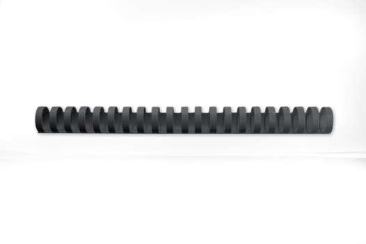 Hřbety plastové GBC 25 mm, černé, 50 ks