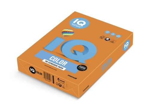 Barevný papír IQ A4 - oranžový OR43, 80g/m2, 500 listů