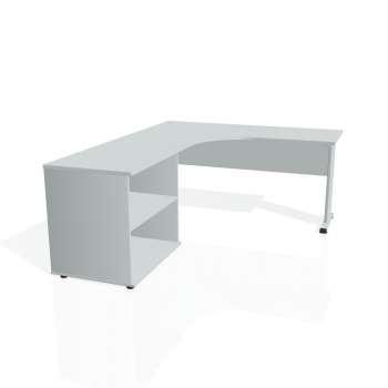 Psací stůl Hobis PROXY PE 60 H pravý, šedá/šedá