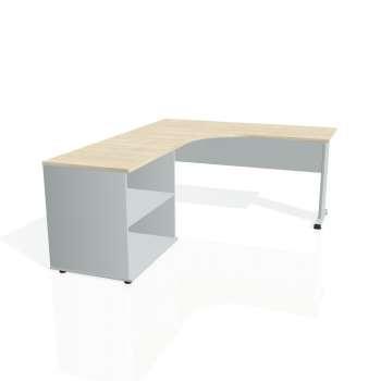 Psací stůl Hobis PROXY PE 60 H pravý, akát/šedá