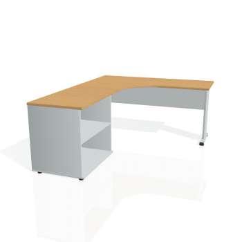 Psací stůl Hobis PROXY PE 60 H pravý, buk/šedá