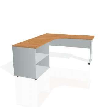 Psací stůl Hobis PROXY PE 60 H pravý, olše/šedá