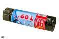 Pytle na odpadky Alufix Economy - zatahovací, černé, 60l, 15µm, 10 ks