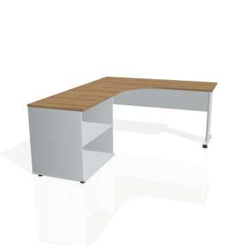 Psací stůl Hobis PROXY PE 60 H pravý, višeň/šedá