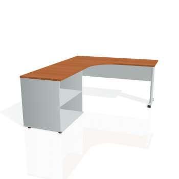 Psací stůl Hobis PROXY PE 60 H pravý, třešeň/šedá