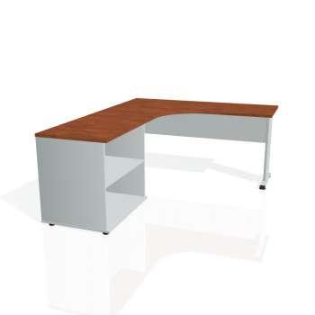 Psací stůl Hobis PROXY PE 60 H pravý, calvados/šedá