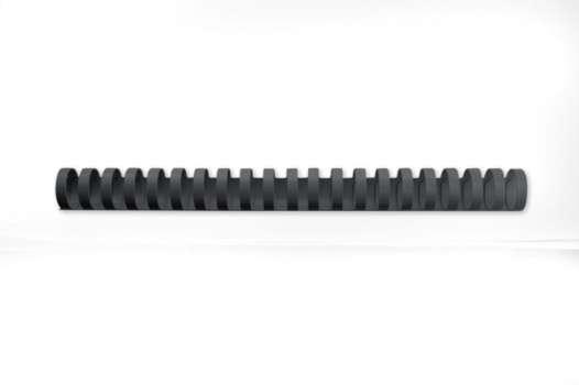 Hřbety plastové GBC 16 mm, černé, 100 ks