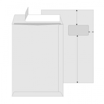 Obchodní tašky   C4 s okénkem Office Depot - samolepicí s krycí páskou, 25 ks