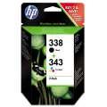 Cartridge HP SD449EE , č. 338/343 - černá, 3 barvy