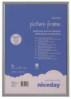 Hliníkový obrazový rám A4, šedý