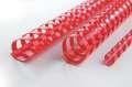 Hřbety plastové GBC 10 mm, červené, 100 ks