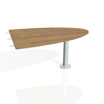 Přídavný stůl Hobis PROXY PP 1500 2, višeň/kov