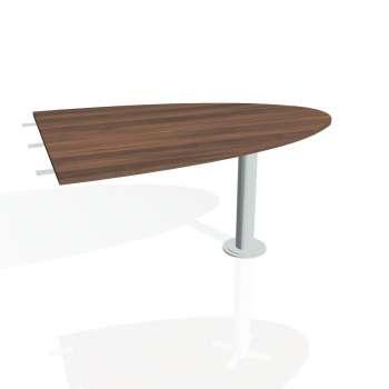 Přídavný stůl Hobis PROXY PP 1500 2, ořech/kov