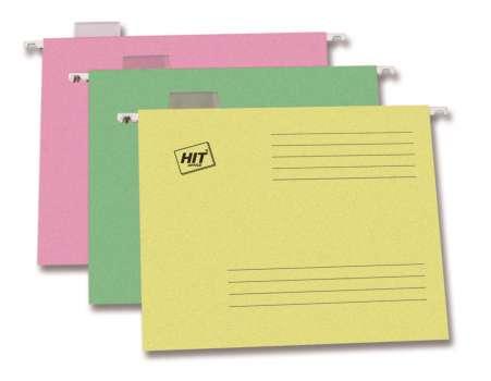 Závěsné papírové desky A4, žluté, 25 ks