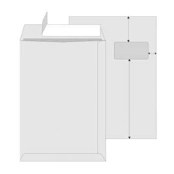 Obchodní tašky   C4 s okénkem Office Depot - samolepicí s krycí páskou, 250 ks