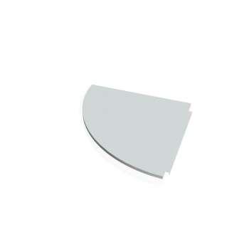 Přídavný stůl Hobis PROXY PP 900 levý, šedá