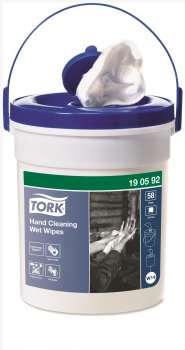 Utěrky z netkané textilie na ruce, Tork Premium v kbelíku, vlhčené