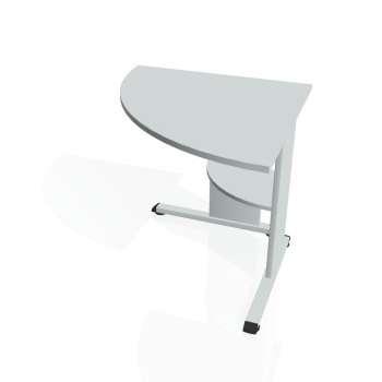 Přídavný stůl Hobis PROXY PP 902 levý, šedá/šedá