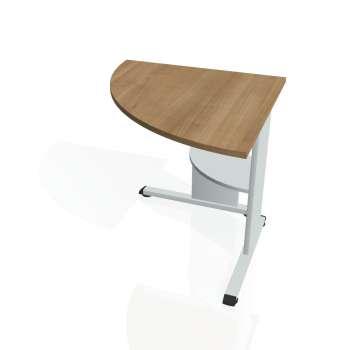 Přídavný stůl Hobis PROXY PP 902 levý, višeň/šedá