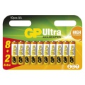 Baterie GP Ultra Alkaline LR6, typ AA, 1,5V, 8+2 ks