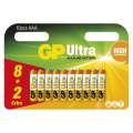 Baterie GP Ultra Alkaline LR03, typ AAA, 1,5V, 8+2 ks