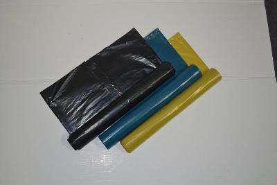 Barevné pytle na třídění odpadu - 60 l, 3 x 10 ks, 20 mic