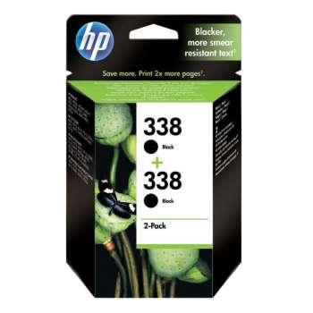 Cartridge HP CB331EE/2x338 - černá, dvojbalení