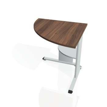 Přídavný stůl Hobis PROXY PP 902 levý, ořech/šedá