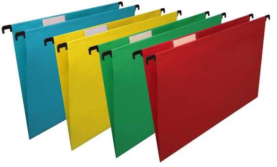 Desky závěsné papírové Niceday červené, 25 ks