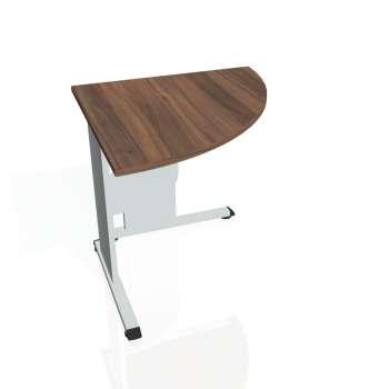 Přídavný stůl Hobis PROXY PP 902 pravý, ořech/šedá