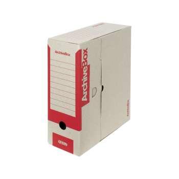 Archivační krabice Emba - A4, hřbet 11,0 cm, červená, 5 ks