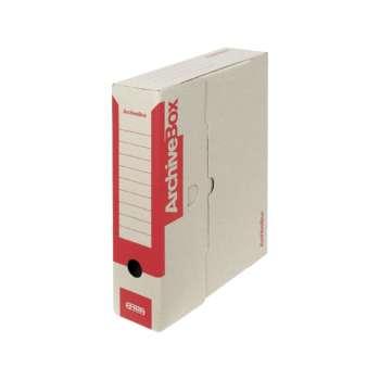 Box archivační Emba  červená  7,5 × 33 × 26 cm, 5 ks
