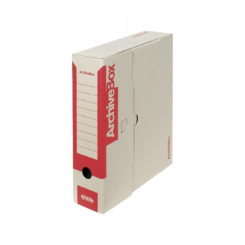 Box archivační Emba  červený 7,5 × 33 × 26 cm, 5 ks